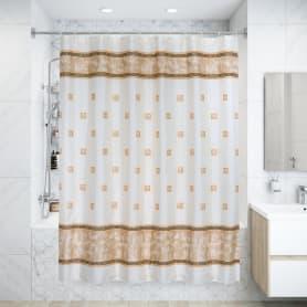 Штора для ванной комнаты «Rome» 180x180 см цвет бежевый