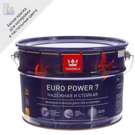 Краска Tikkurila Euro Power-7 цвет белый 9 л база А