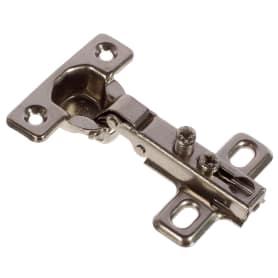 Петля мебельная накладная Boyard Key-hole H401A21, 15х54 мм, сталь, цвет сталь, 2 шт.