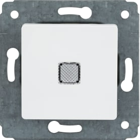 Выключатель Legrand Cariva, 1 клавиша, с подсветкой, цвет белый