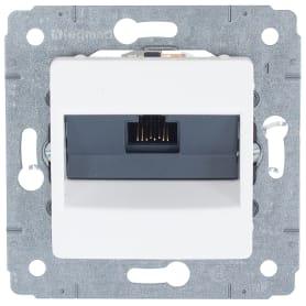 Розетка компьютерная Legrand Cariva RJ45 UTP Cat.6 цвет белый