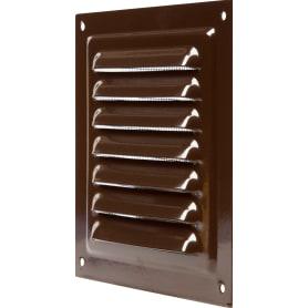 Решетка вентиляционная с сеткой Вентс МВМ 125 с, 125х125 мм, цвет коричневый