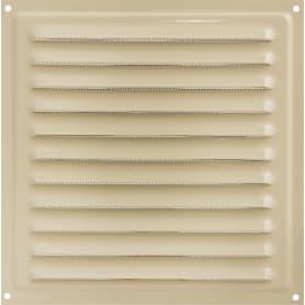 Решетка вентиляционная с сеткой Вентс МВМ 200 с, 200х200 мм, цвет бежевый