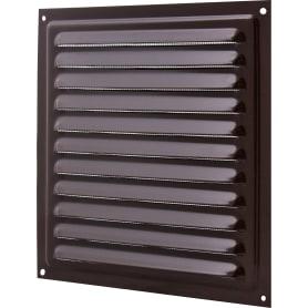 Решетка вентиляционная с сеткой Вентс МВМ 200 с, 200х200 мм, цвет коричневый