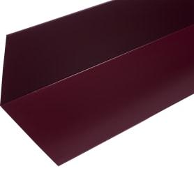Планка для внутренних углов с полиэстеровым покрытием 2 м цвет красный