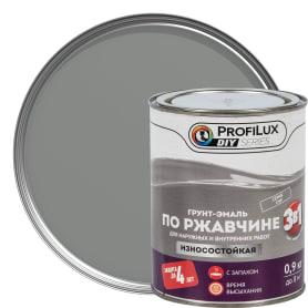 Эмаль по ржавчине 3в1 цвет серый 0.9 кг