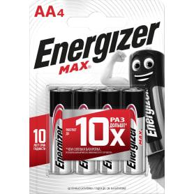Батарейка алкалиновая Energizer MAX AA, 4 шт.