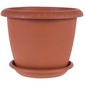 Горшок цветочный «Жардин» D20, 2, 8л., пластик, Коричневый