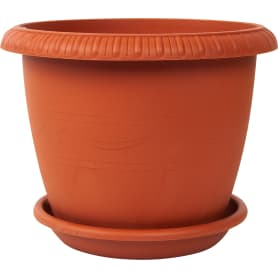 Горшок цветочный «Жардин» D25, 5, 5л., пластик, Коричневый