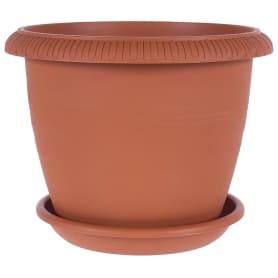 Горшок цветочный «Жардин» D30, 9, 5л., пластик, Коричневый