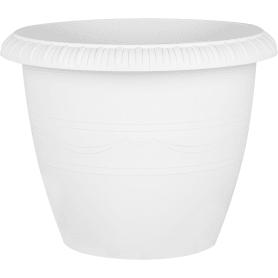 Горшок цветочный «Жардин» D35, 13л., пластик, Серый / Серебристый