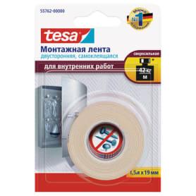 Лента двусторонняя для внутренних работ Tesa, цвет белый