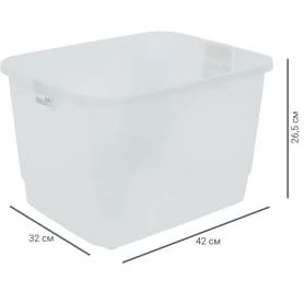 Ящик многофункциональный 42х26.5x32 см, пластик цвет прозрачный без крышки