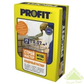 Раствор кладочный Profit Строймастер модифицированный, 25 кг
