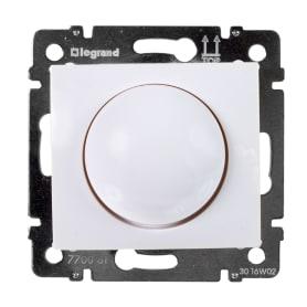 Диммер встраиваемый Legrand Valena 400 Вт (для ламп накаливания и галогенных) цвет белый