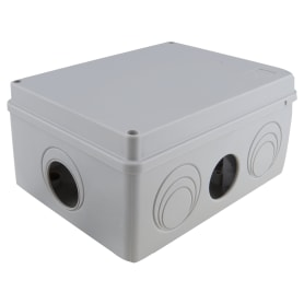 Коробка распределительная Экопласт 190х140х70 мм цвет серый, IP55
