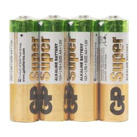 Батарейка алкалиновая GP 15A AA, 4 шт.