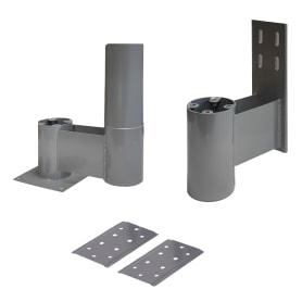 Комплект верх/низ 225 мм, сталь, цвет алюминий