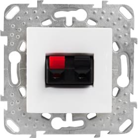 Аудио розетка Schneider Electric Unica цвет белый
