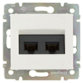 Розетка компьютерная двойная встраиваемая Legrand Valena RJ45, UTP cat 5, цвет белый