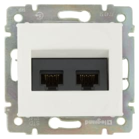 Розетка компьютерная Legrand Valena RJ45 Cat.5e UTP 2 разъема цвет белый