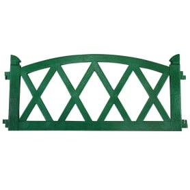 Ограждение садовое декоративное «Арка» цвет зелёный