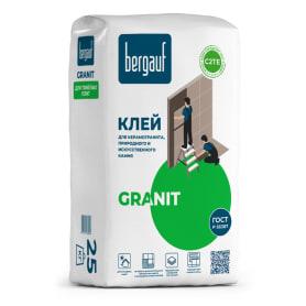 Клей для керамогранита Bergauf Granit, 25 кг