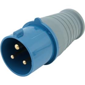 Вилка с заземлением IEK 220 В цвет синий