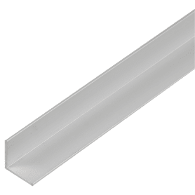 Уголок алюминиевый 15х15х1.2 мм, 1 м, цвет серебро