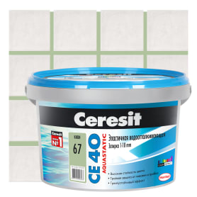 Затирка цементная Ceresit СЕ 40 водоотталкивающая 2 кг цвет киви