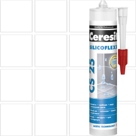 Затирка силиконовая Ceresit CS 25, 280 мл, цвет белый