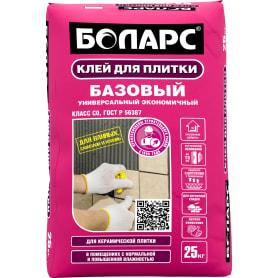 Клей для плитки Боларс Базовый, 25 кг
