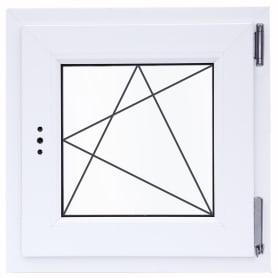 Окно ПВХ одностворчатое 65(62)х60 см поворотное правое однокамерное