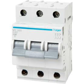 Выключатель автоматический Hager 3 полюса 20 A