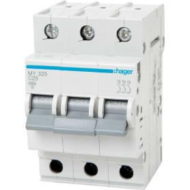 Выключатель автоматический Hager 3 полюса 25 A