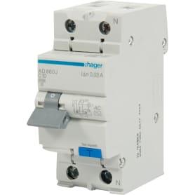 Автомат дифференциальный Hager 2 полюса 10 А