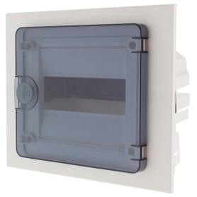 Щит пластиковый в нишу Hager Golf на 8 модулей, с прозрачной дверью