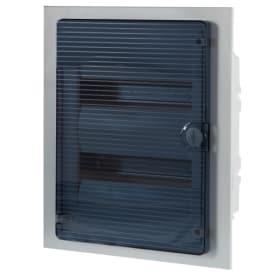 Щит пластиковый в нишу Hager Golf на 24 модуля, с прозрачной дверью