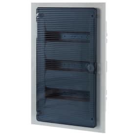 Щит пластиковый в нишу Hager Golf на 36 модулей, с прозрачной дверью