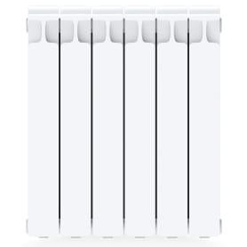 Радиатор Rifar Monolit 500, 6 секций, боковое подключение, 500 мм, биметалл