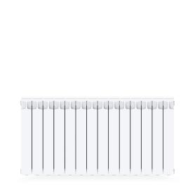 Радиатор Rifar Monolit 500, 14 секций, боковое подключение, 500 мм, цвет белый, биметалл
