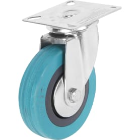 Колесо поворотное 100 мм поворотное без тормоза, до 70 кг