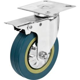 Колесо поворотное 100 мм с тормозом, до 70 кг