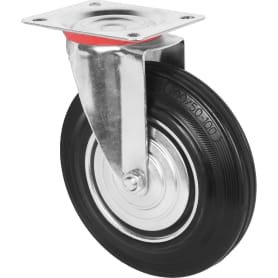 Колесо поворотное 200 мм поворотное без тормоза, до 205 кг