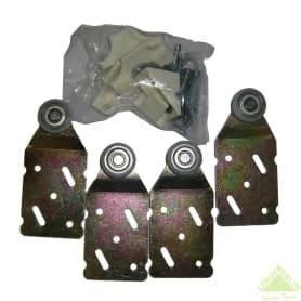 Ролики для шкафа купе на две створки MC-45-R2 нагрузка до 45 кг