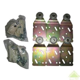 Ролики для шкафа на три створки купе MC-45-R3 нагрузка до 45 кг
