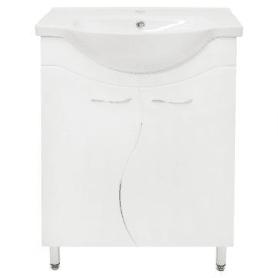 Тумба под раковину напольная «Волна» 60 см цвет белый
