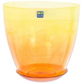 Горшок цветочный «Современный» жёлто-оранжевый 3 л 195 мм, стекло