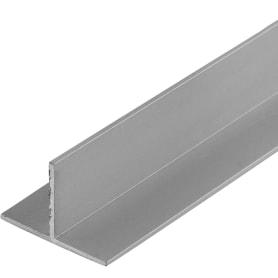 Тавр алюминиевый 30х20х1,5 мм, 2 м, цвет серебро