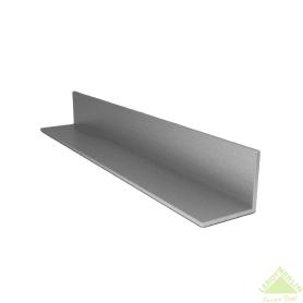 Уголок алюминиевый 40х10х2 мм, 1 м, цвет серебро